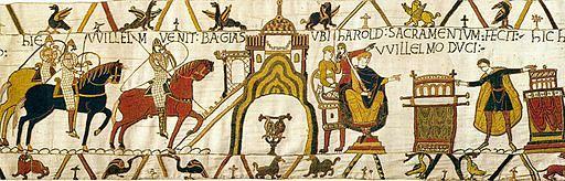 A segment of the Bayeux Tapestry