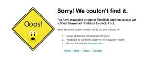 HHTP Error Messages eg 404
